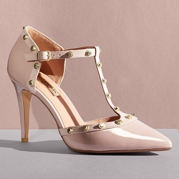 0c1cff05d5c Halogen Shoes - Halogen Martine Studded T-Strap Pumps